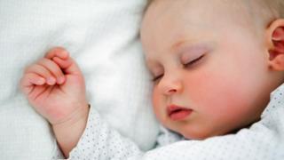 A sleeping baby