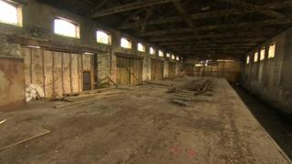 Inside the Railway Goods Shed in Llanelli