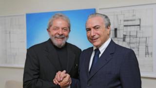 Lula recebe Temer, no Instituto Lula, em 2015
