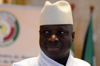 Gambian President Yahya Jammeh attending the 44th summit of the 15-nation west African bloc ECOWAS in 2014