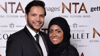 Abdal Hussain and Nadiya Hussain in January 2016