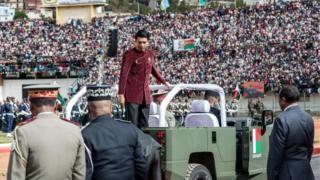 Perezida Andry Rajoelina mu birori by'umunsi w'ubwigenge muri iki gihugu