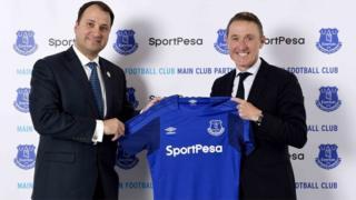 Kampuni ya Sportpesa baada ya kuweka mkataba wa kuidhamini klabu ya Everton kutoka Uingereza