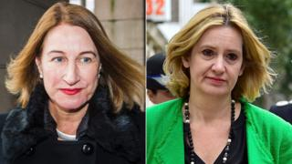 Dame Lowell Goddard and Amber Rudd