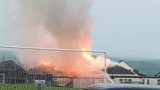 Fire at Ballantrae Primary School