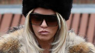 Katie Price arriving at court in March