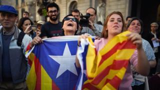 Protesto em Barcelona