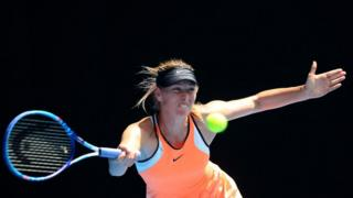 Maria Sharapova in action at the Australian Open in January 2016