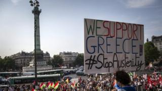 Rally to support Greece in Place de la Bastille (2 July)