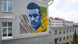 ကာဇန် မြို့က နေမာကို ဂုဏ်ပြုထားတဲ့ နံရံပန်းချီ