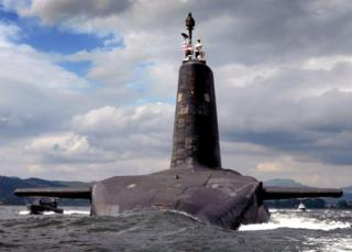 The work was planned to complete before the first operational Trident patrol. Pictured is HMS Vanguard which successfully conducted the mission.