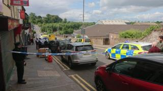 Dungannon crash scene