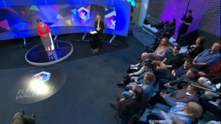Leanne Wood and audience