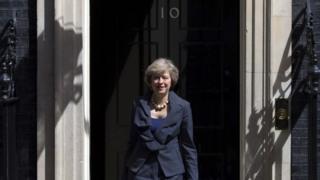 Theresa May after Cabinet meeting
