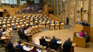 MSPs in parliament