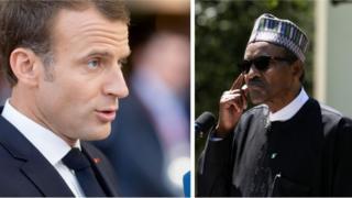 Emmanuel Macron ati Muhammadu Buhari