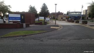 Warrington hospital parking signs