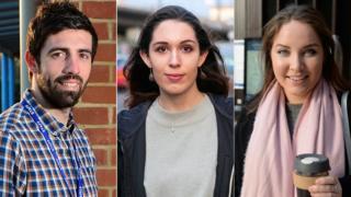 Andy Harris, Claudia Neuray y Charlotte Cumming