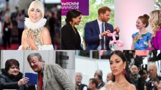 الأمير هاري وزوجته الدوقة ميغان وليدي غاغا وستيفن فراير ونيكول