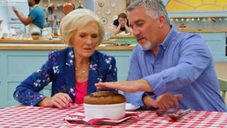 Mary Berry and Paul Hollywood on Great British Bake Off
