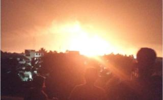 Eyewitness photo of the chemical factory fire