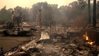 صدها خانه در ناحیه سوخته است