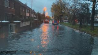 Flooding in Orchardville Avenue