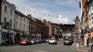 Welshpool town centre