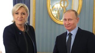 Ле Пен и Путин