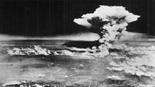 Ifoto igaragaza Hiroshima nyuma yo guterwaho igisasu kirimbuzi cya nikleyeri