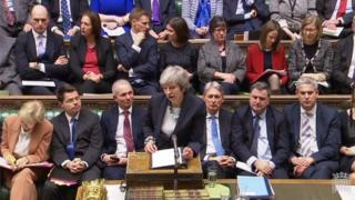 Government front bench in Commons