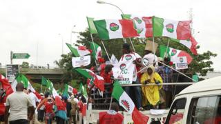 2016 NLC protest for Nigeria ontop fuel price increase to N145