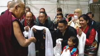 Dalai Lama meeting Tibetans, 23 Sep 17