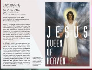 Trans Jesus was meant to be 'positive' says playwright Jo Clifford