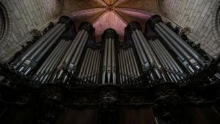 The great organ at Notre Dame in Paris