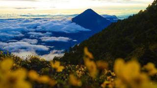 Vista del volcán