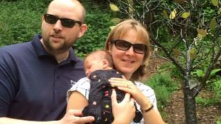 Mr and Mrs Rawlings and their new son Joshua