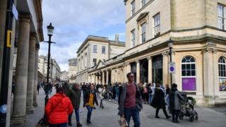 Bath city centre, 11 March 2020