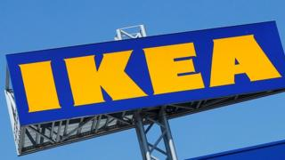 Ikea logo above a store