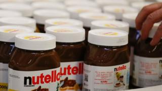 Pots of Nutella - file pic