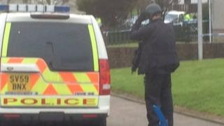 Police at scene in Peterhead