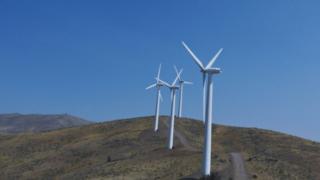 On-shore wind turbines
