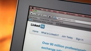 Linkedin shown on a computer screen