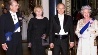 Королева Елизавета и президент России