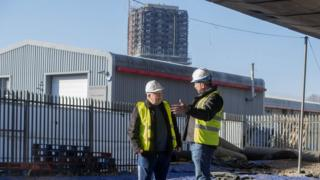 Nick Knowles talks with Mick Delaney,