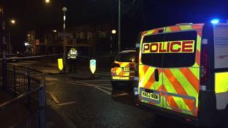 Police vans Hylton Road