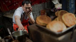 Man at Beijing food stall