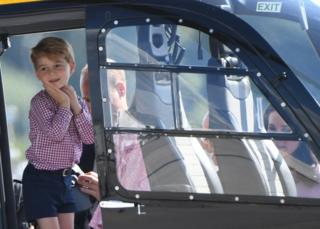 The article was written after this photo of Prince George was published last month