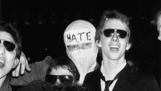 Punk rock fans at the Rainbow, London, during a gig by bands The Jam and The Clash, May 1977