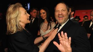 Harvey Weinstein and Hillary Clinton in 2012